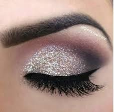 glitter eye makeup looks charming