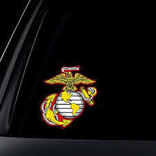Amazon Com U S Marine Corps Semper Fidelis Car Decal Sticker Automotive