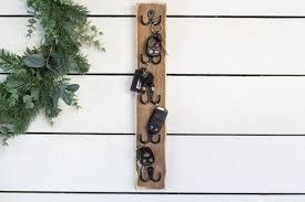 vertical key hooks tall wall mounted