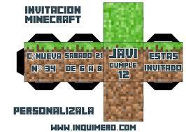 Inquimero Invitacion Minecraft Invitaciones De Minecraft