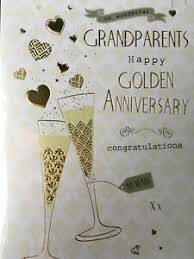 golden anniversary card for