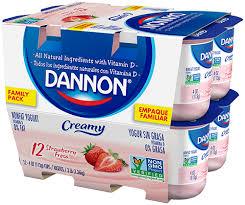 dannon creamy strawberry yogurt