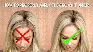 how to properly apply the crown topper