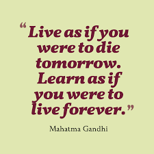 mahatma gandhi quote about learning