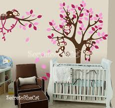 Tree And Monkeys Decals Nursery Wall Decal Wall Decals Etsy
