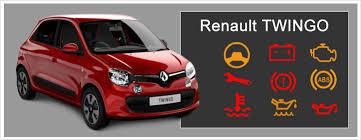 renault twingo dashboard warning lights