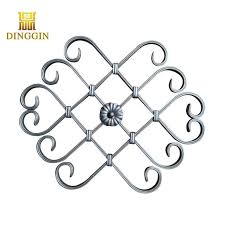 China Forged Iron Ornamental Wrought Iron Panels For Fence Gate Factory Suppliers And Manufacturers Dinggin