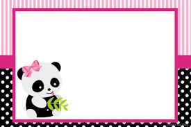 Invitacion Osita Panda Fiesta Tematica De Panda Fiesta De