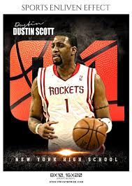 Dustin Scott - Basketball Sports Enliven Effect Photography Template
