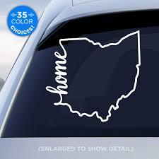 Amazon Com Ohio State Home Decal Oh Home Car Vinyl Sticker Add A Heart Over Columbus Cleveland Cincinnati Toledo Akron Dayton Made With Outdoor Vinyl Handmade