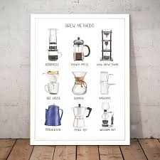Coffee Brewing Method Cafe Flower Alphabet Poster Print Painting Nursery Kids Room Home Decor Art Decor Canvas Painting M160 Painting Calligraphy Aliexpress