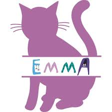 Cat Cats Kitty Silhouette Animal Customized Wall Decal Custom Vinyl Wall Art Personalized Name Baby Girls