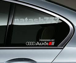 Powered By Audi Racing Sport S Line Window Decal Sticker Emblem Logo Silver Red Ebay
