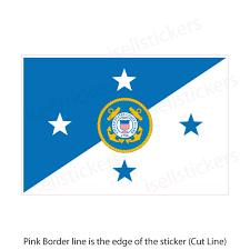 Uscg Us Coast Guard Commandant Semper Paratus Military Bumper Sticker Window Decal