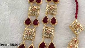 latest red bridal set jewellery design