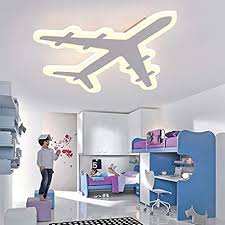 Amazon Com Litfad Airplane Shape Dimmable Led Ceiling Light Fixture 17 32 Inch Wide Pendant Lamp In White For Boys Bedroom Kids Room Children Bedroom Home Improvement
