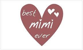 Amazon Com Cafepress Heart Best Mimi Ever Rectangle Bumper Sticker Car Decal Home Kitchen