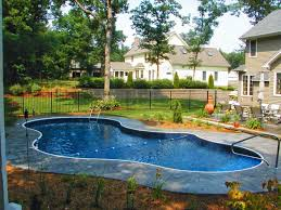Backyard Small Rectangular Above Ground Swimming Pools For Home Back Yard Drawing With Side Parking Elements And Style Clip Art Landscaping Ideas Narrow Design Crismatec Com