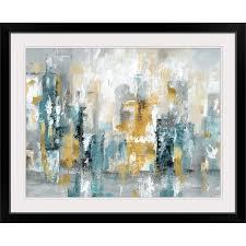 wide oversized framed wall art