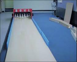 indoor bowling alley everything backyard