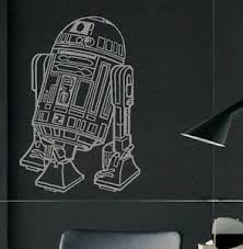 Large Star Wars R2d2 Childrens Bedroom Wall Art Mural Sticker Transfer Decal Ebay