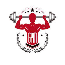 sport logo for weightlifting gym and