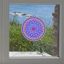 Amazon Com Mandala Blue Heart Mandala See Through Vinyl Transfer Window Decal Yydc Medium 5 Diameter Blue Arts Crafts Sewing