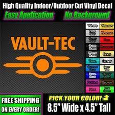 Vault Tec Logo Fallout Decal Vinyl Sticker Window Graphic Truck Pip Nuka 111 101 Ebay