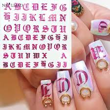 1pc Rose Gold Letter 3d Nail Art Sticker Nail Decal Black Words Character Nail Adhesive Sticker Decals Nail Decoration Diy Wish