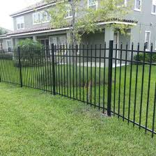 6 Ft High X 8 Ft Wide Welded Powder Coated Picket Steel Ornamental Fencing China Wrought Iron Fence Designs Security Wrought Iron Fence Made In China Com