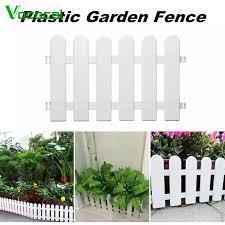 In Stock Vococal Miniature Garden Fence Mini Small Decorative Plastic Picket Fence For Diy Miniature Garden Dollhouse Barrier 20 X 12inch White Lazada Singapore