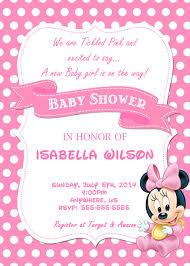 Minnie Mouse Baby Shower Custom Invitations 8 50 Invitaciones