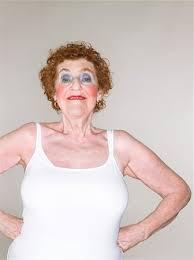 weird old lady makeup stock photos