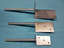 Heavy Duty Galvanised L Type With Pin Fence Post Foot Support Anchor 3mm Thick A D N A Components