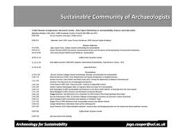 Jago Cooper (Univ. College London) Archaeology for Sustainability