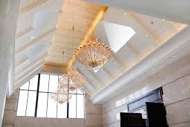 how to light a high ceiling