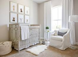 gray wood and mirror nursery crib with