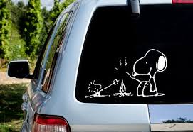 Snoopy Woodstock Campfire Car Decal Etsy