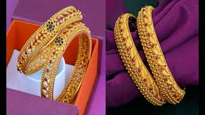 gold jewellery designs bangles in india
