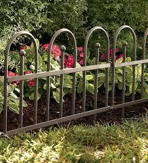 Iron Fence Edging Metal Garden Edging Iron Fence Fence Landscaping