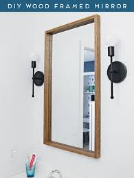 iheart organizing diy wood framed mirror