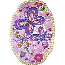 Zoomie Kids Horner Glitterfly Purple Area Rug Reviews Wayfair