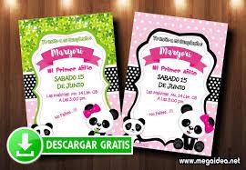 Invitacion Cumpleanos Osita Panda Gratis Mega Idea