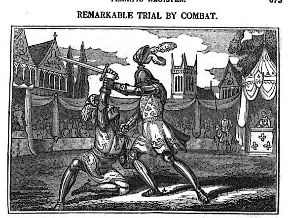 Image result for trial by combat""