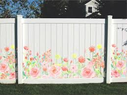 Privacy Fence Decals Garden Art Etsy Privacy Fence Designs Fence Art Garden Fence Art