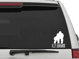 Amazon Com Decals Usa Rip Harambe Decal Sticker For Car And Truck Windows And Laptops Automotive