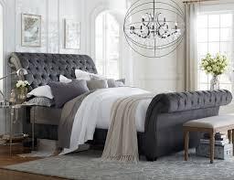 classy sleigh bed designs classy