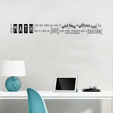 Math Classroom Decorations Math Quote Vinyl Wall Decal For Teachers Libraries And Classrooms Wl2110 Wall Stickers Aliexpress
