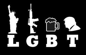 Amazon Com Laptop Stickers Lgbt Liberty Guns Beer Trump Militia Gadsen Patriot Veteran Vinyl Decal For Car Window Bumper Cup Safe Decor Door Custom Sticker Bt2862 Kitchen Dining
