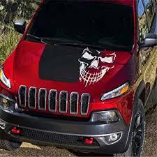 Amazon Com Fochutech Car Window Body Sticker Skull Skeleton Rear Windshield Wiper Self Adhesive Side Truck Auto Vinyl Graphics Decals Reflective White Automotive